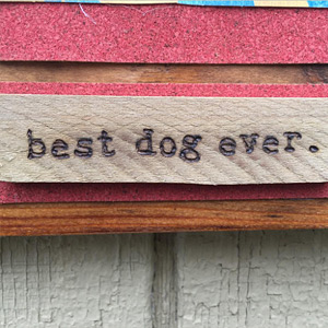 Best dog ever personalized wood burned plaque