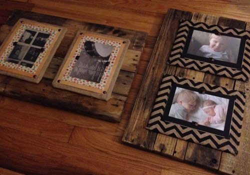 Our First Items: Reclaimed Pallet Wood Picture Frames