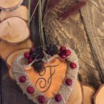 Wood Slice Wreath with Copper Heart Emellishment