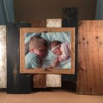Black and White Pallet Picture Frame
