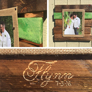Flynn wedding gift picture frame engraved