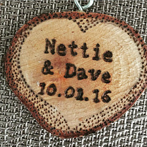 Nettie & Dave personalized wedding ornament