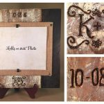 Customized barnwood picture frame wedding