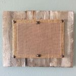 Set of 3 grey distressed pallet picture frames