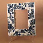 Mosaic Picture Frame, Broken China, Broken China Mosaic, Mosaic Tile Wall Art, Broken Glass Art, Mosaic Frame, 5x7 Frame, Picture Frame 5x7