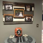 Harley themed XL pallet picture frame