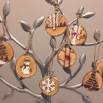 large wood slice christmas ornaments